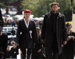 Rila Fukushima and Hugh Jackman in The Wolverine.