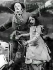 The Scarecrow and Dorothy.