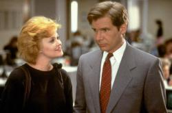 Melanie Griffith and Harrison Ford in Working Girl.