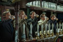 Martin Freeman, Paddy Considine, Simon Pegg, Nick Frost, and Eddie Marsan down pints in The World's End.