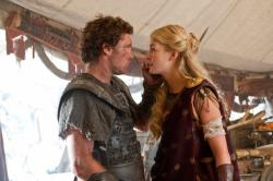 Sam Worthington and Rosamund Pike in Wrath of the Titans.