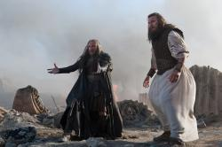 Ralph Fiennes and Liam Neesom looking bored in Wrath of the Titans
