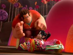 Sarah Silverman and John C. Reilly voice Vanellope and Ralph in Wreck-it Ralph.