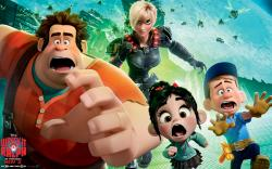The four main characters in Wreck-It Ralph.
