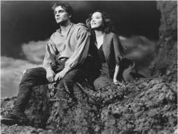 Laurence Olivier and Merle Oberon in Wuthering Heights.