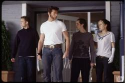 Hugh Jackman as Wolverine, leads the young mutants in X-Men 2.