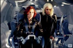 Famke Janssen and Halle Berry in X-men 2.