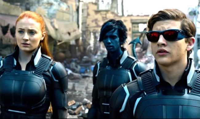 Sophie Turner, Kodi Smit-McPhee, and Tye Sheridan in X-Men: Apocalypse.