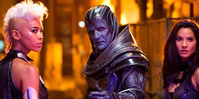 Alexandra Shipp, Oscar Isaac and Olivia Munn in X-Men: Apocalypse.