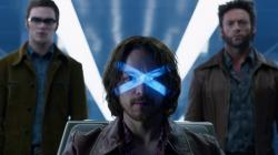 Nicholas Hoult, James McAvoy and Hugh Jackman in X-Men: Days of Future Past.