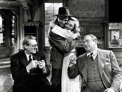 Lionel Barrymore, James Stewart, Jean Arthur, and Edward Arnold in You Can't Take It with You.
