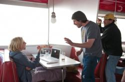 Charlize Theron getting direction from Jason Reitman for Young Adult