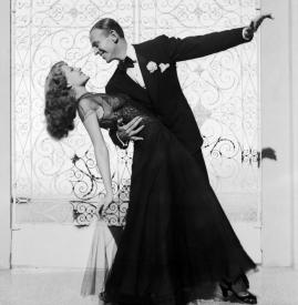 Rita Hayworth and Fred Astaire personify class and elegance in movement.