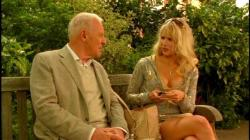 Anthony Hopkins and Lucy Punch in You Will Meet a Tall Dark Stranger.