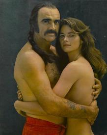 Sean Connery and Charlotte Rampling in Zardoz