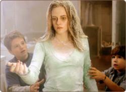 Kristen Stewart, as cold and stiff as always in Zathura.