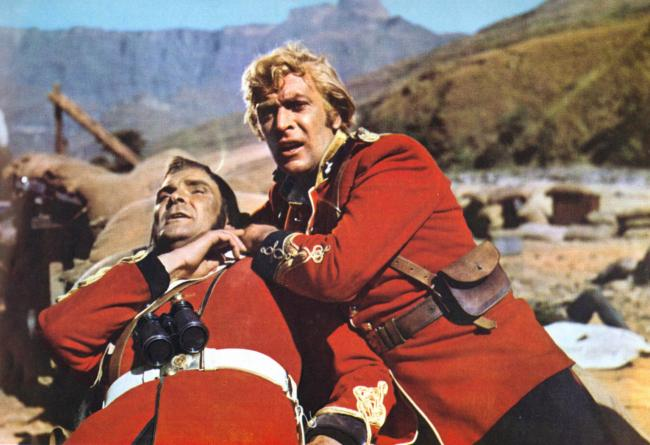 Stanley Baker and Michael Caine in Zulu.